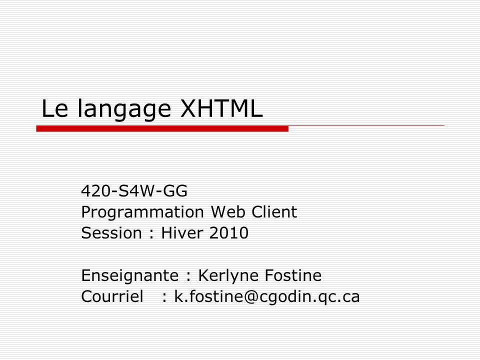 2 Plan de la séance  Introduction à XHTML  Structure d'un document XHTML  Mise en forme du texte  Les listes  Insertion des images et du multimédia