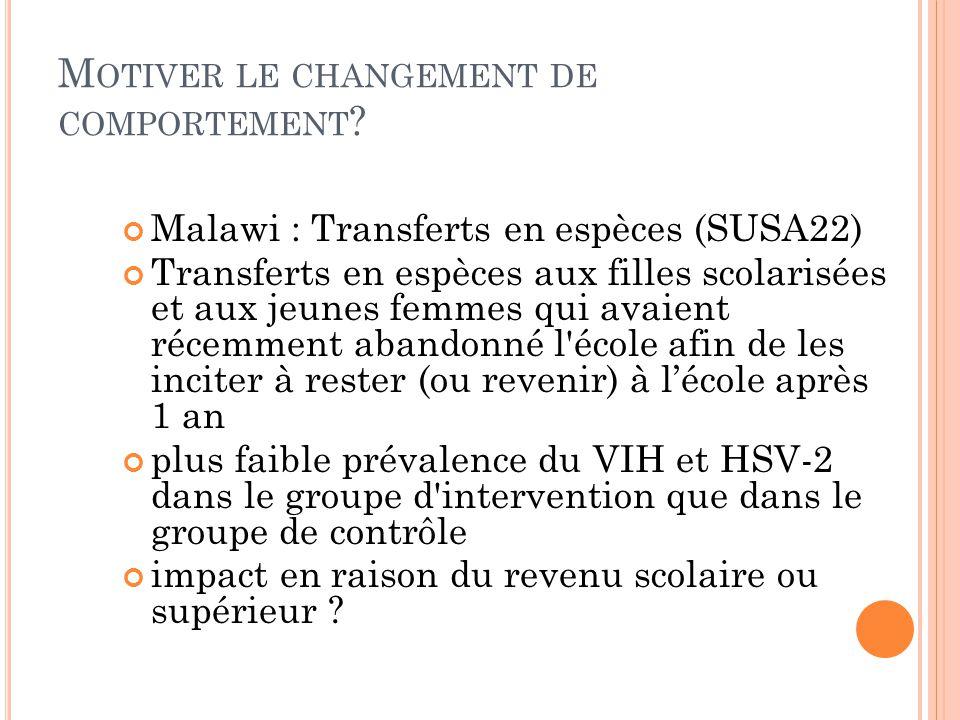 M OTIVER LE CHANGEMENT DE COMPORTEMENT .