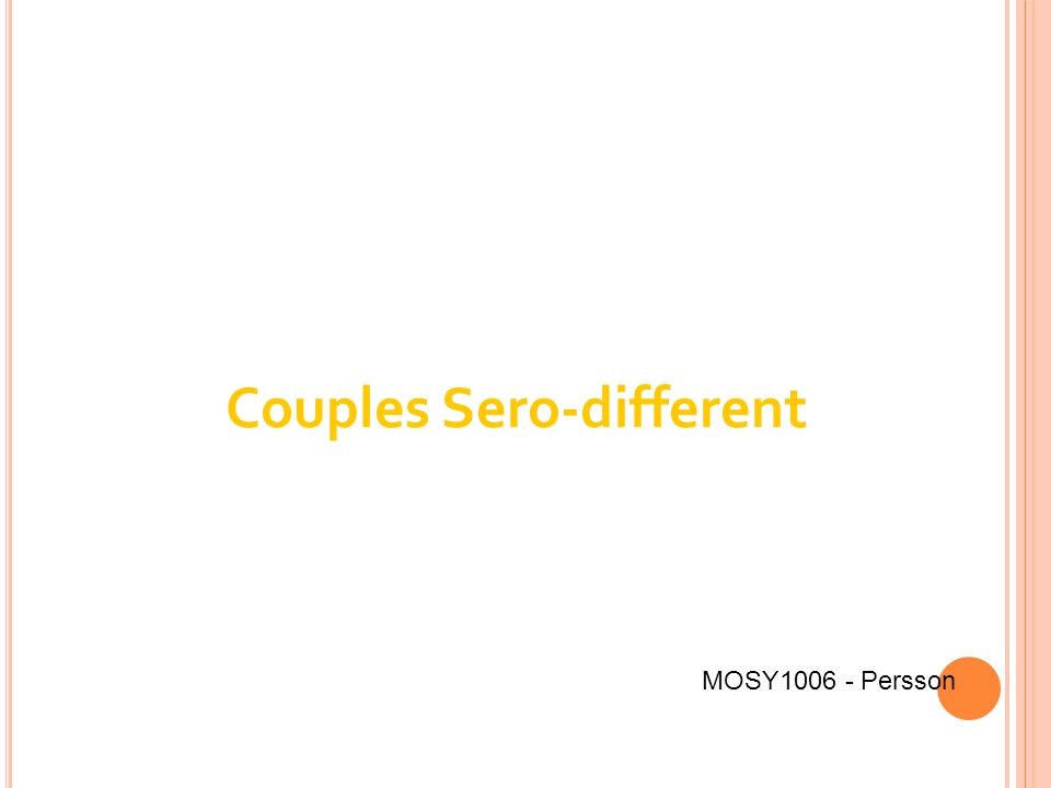 Couples Sero-different MOSY1006 - Persson