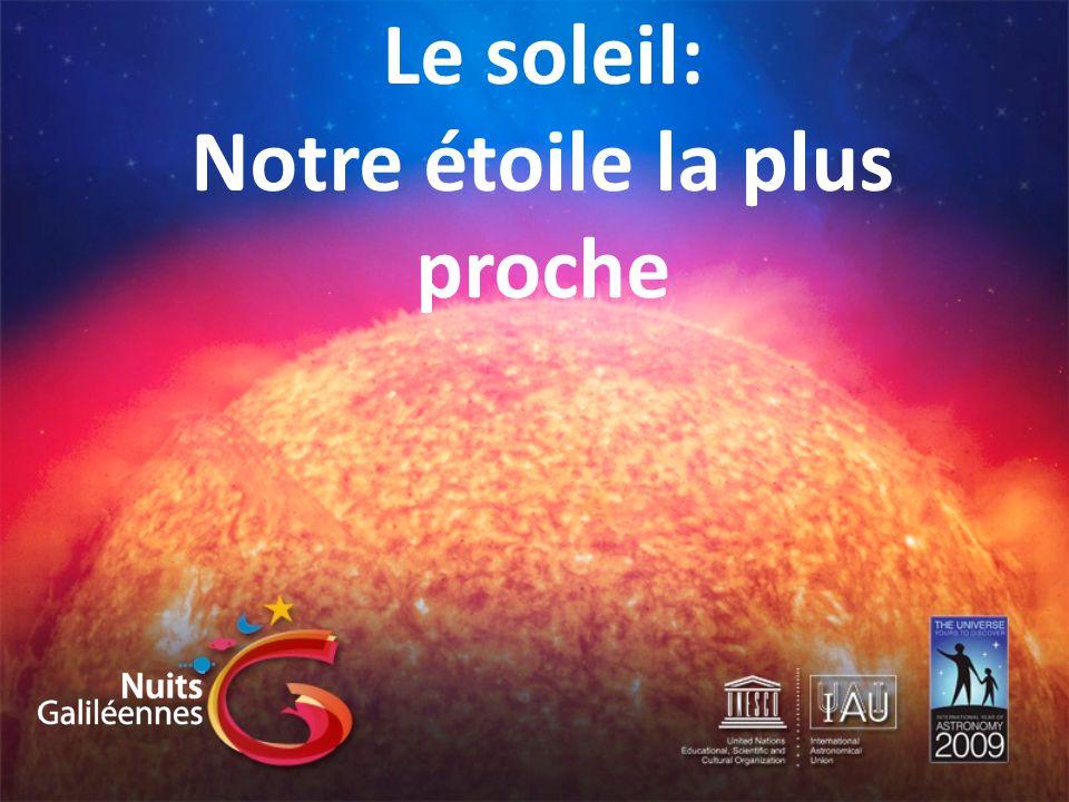 Le soleil: Notre étoile la plus proche