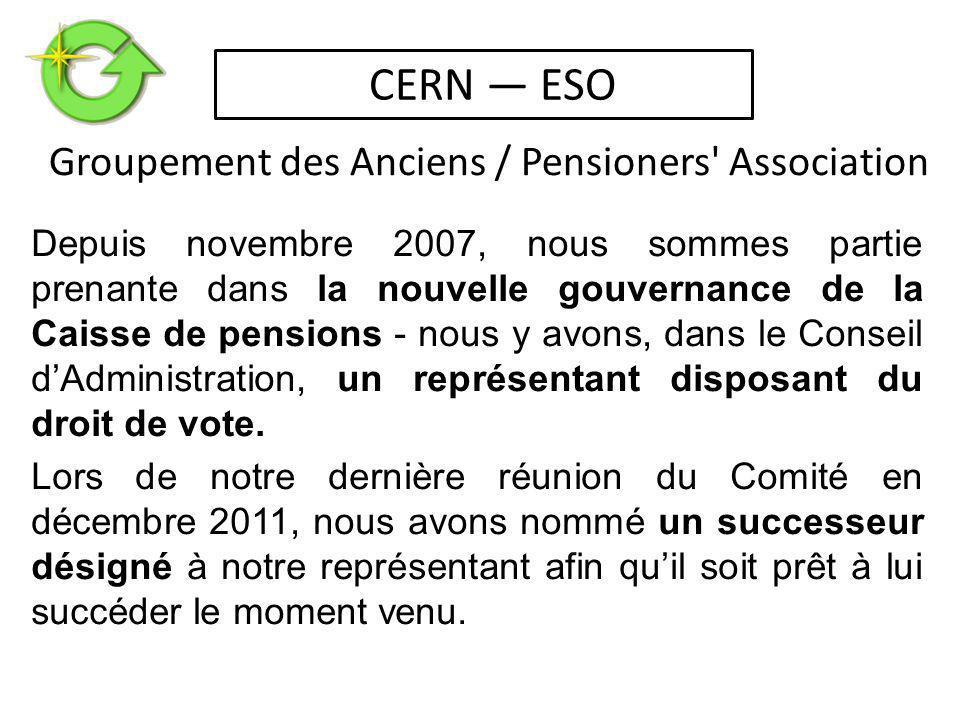 Depuis novembre 2007, nous sommes partie prenante dans la nouvelle gouvernance de la Caisse de pensions - nous y avons, dans le Conseil d'Administration, un représentant disposant du droit de vote.