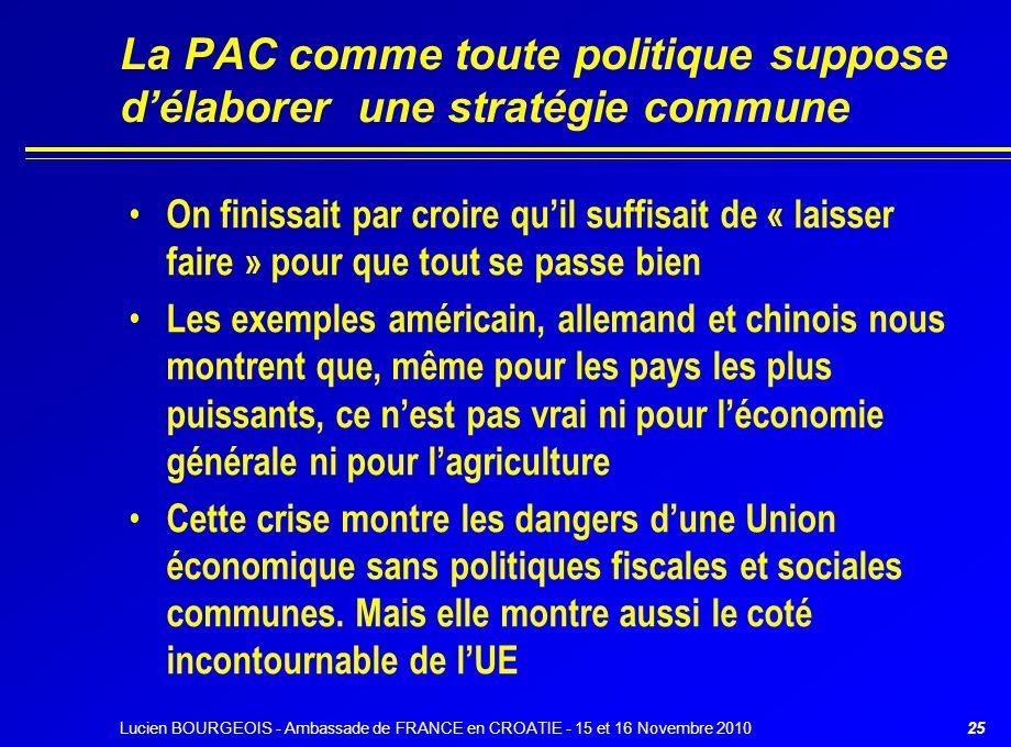 26 La PAC actuelle laisse-t-elle une place aux politiques agricoles nationales .