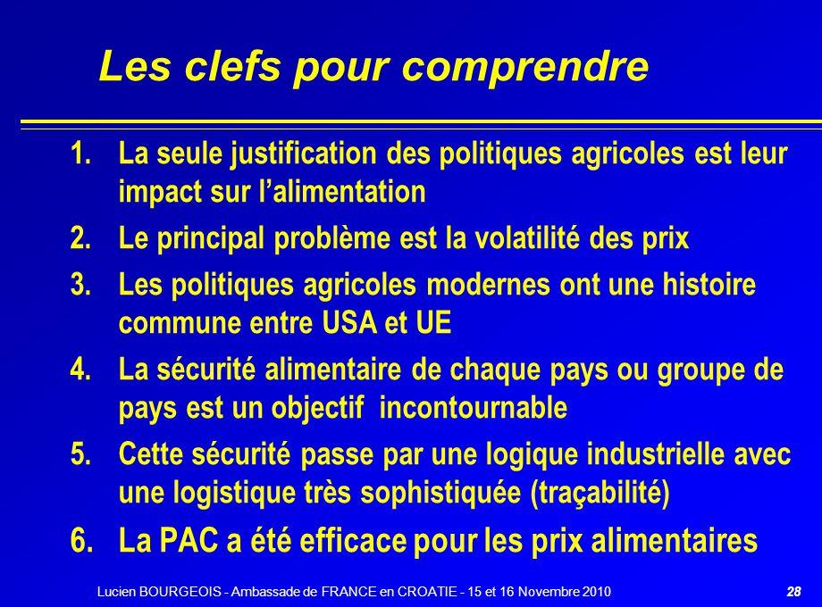 29 Le Président des USA, Georges BUSH a déclaré (Préambule au Farm Bill de 2002) « Une nation qui peut nourrir sa population est une nation en sécurité »