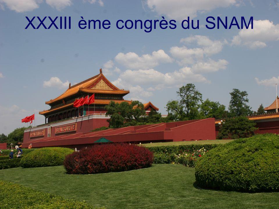 1 XXXIII ème congrès du SNAM