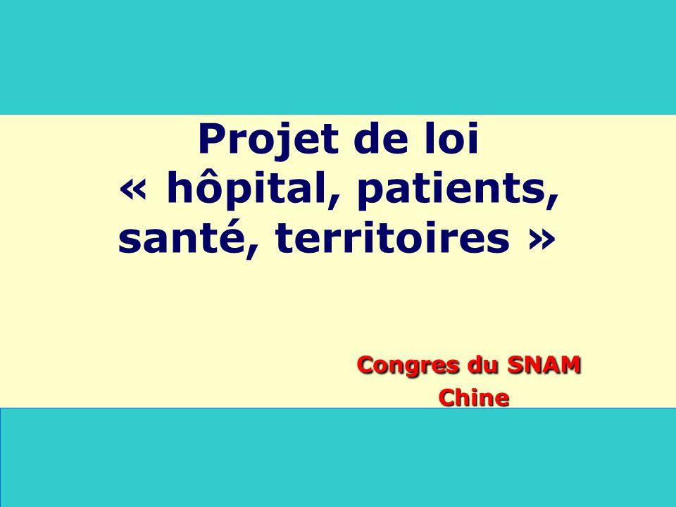 Congres du SNAM Chine Projet de loi « hôpital, patients, santé, territoires » Congres du SNAM Chine
