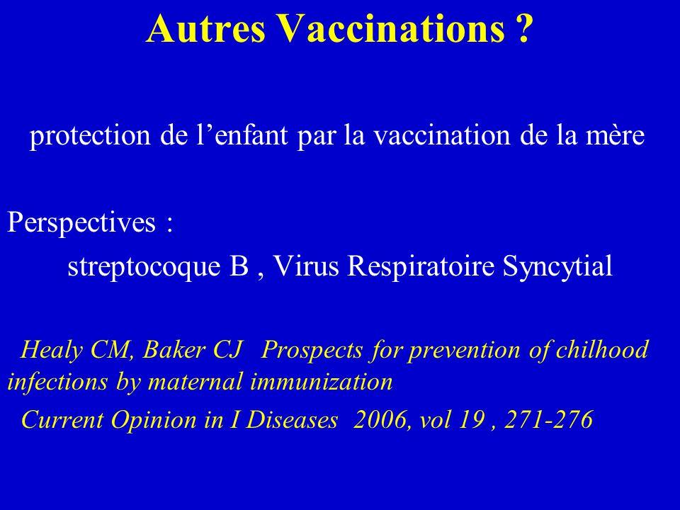 Autres Vaccinations .