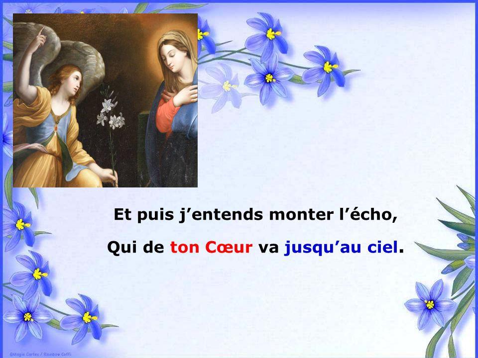.. Quand je ne sais plus Trouver les mots, Marie, Pour éveiller le Cœur de Dieu Je reprends ceux de Gabriel.