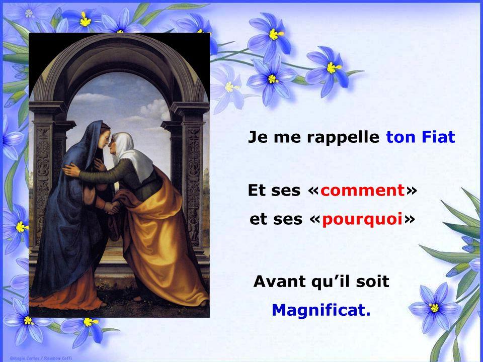 .. Quand je n'ai plus assez de foi, Marie, Pour suivre les pas de mon Dieu,