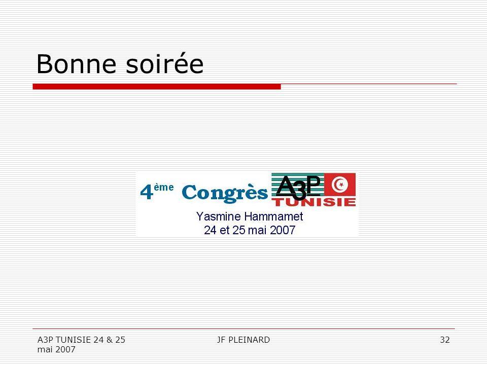 A3P TUNISIE 24 & 25 mai 2007 JF PLEINARD32 Bonne soirée