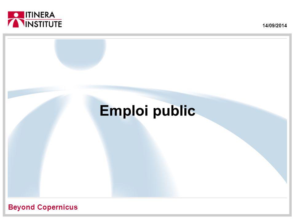 14/09/2014 Emploi public Beyond Copernicus