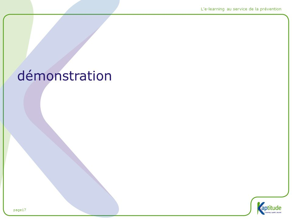 page17 L'e-learning au service de la prévention démonstration
