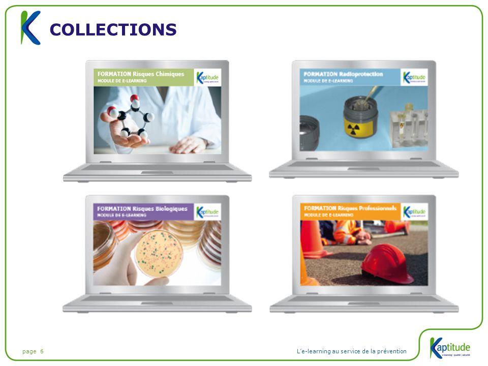 page 6L'e-learning au service de la prévention COLLECTIONS