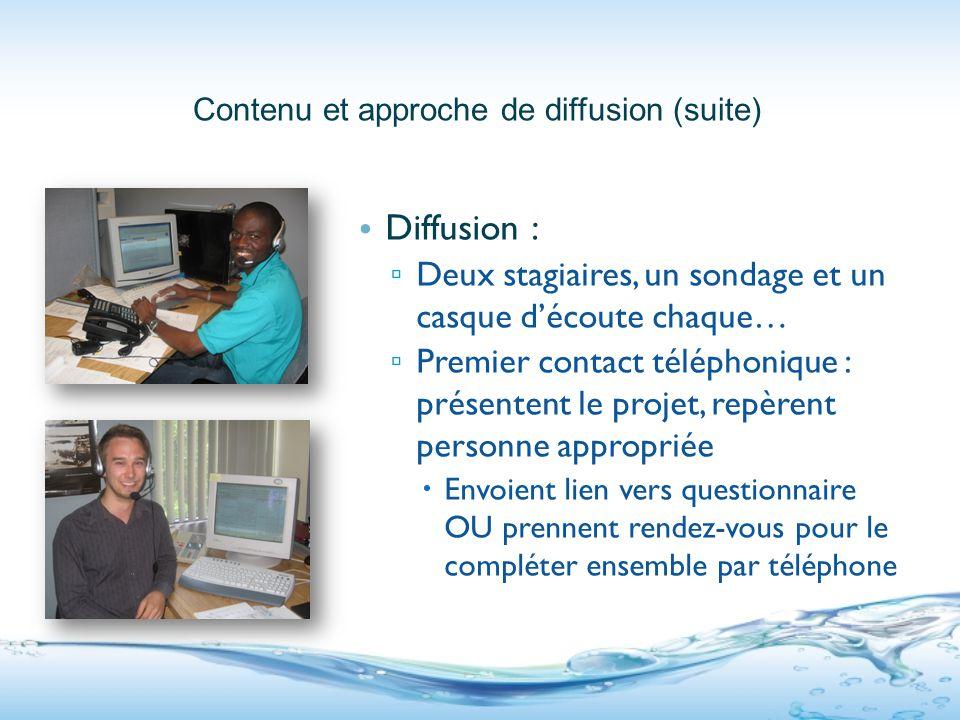 Présentation d'un questionnaire Questionnaire municipalités Questionnaires entreprises