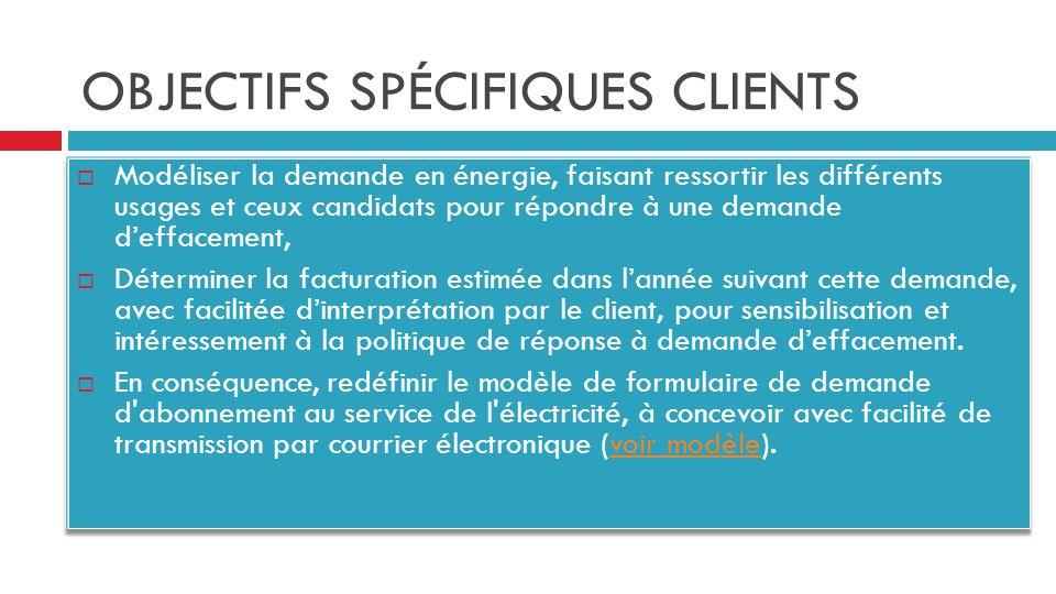 OBJECTIFS SPÉCIFIQUES POSTE HTA/BT