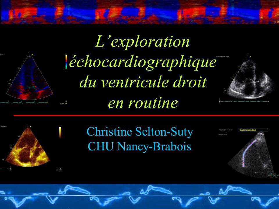 L'exploration échocardiographique du ventricule droit en routine Christine Selton-Suty CHU Nancy-Brabois