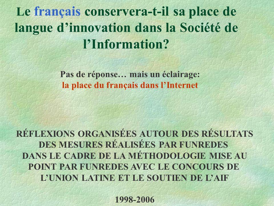 L e français conservera-t-il sa place de langue d'innovation dans la Société de l'Information.