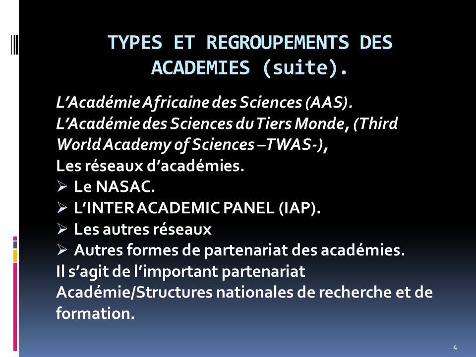 Vision et Missions des académies.