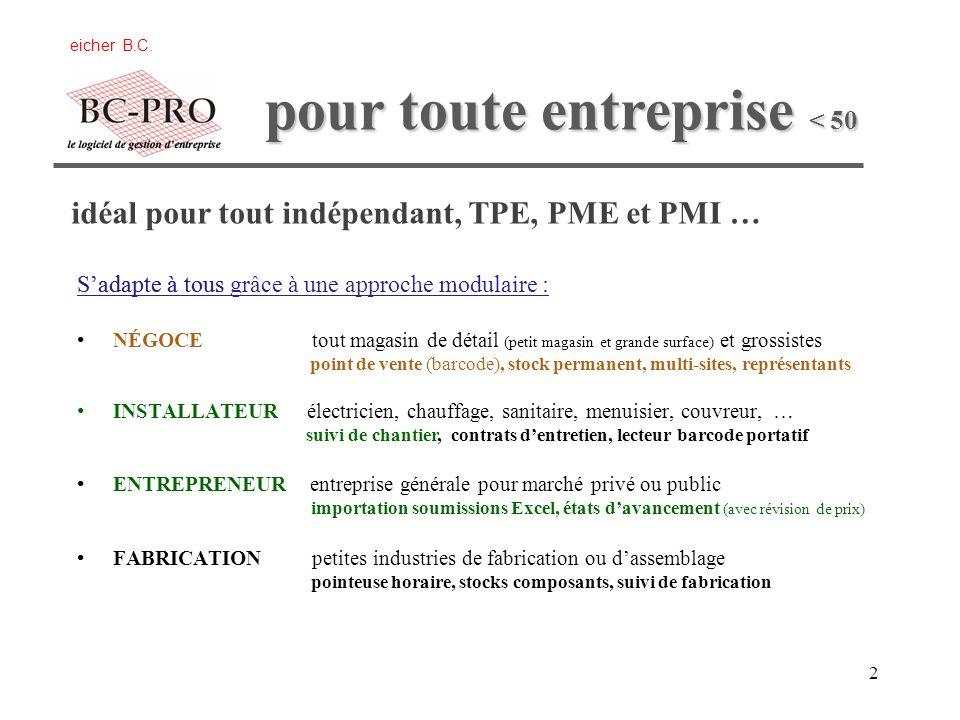 1 de gestion commerciale de gestion commerciale de gestion devis/chantier eicher B.C.