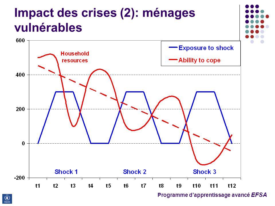 Programme d'apprentissage avancé EFSA Impact des crises (2): ménages vulnérables