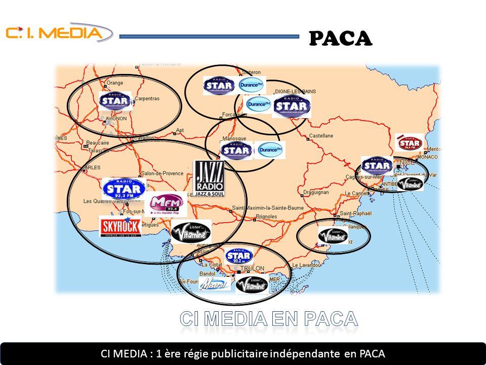 PACA CI MEDIA : 1 ère régie publicitaire indépendante en PACA