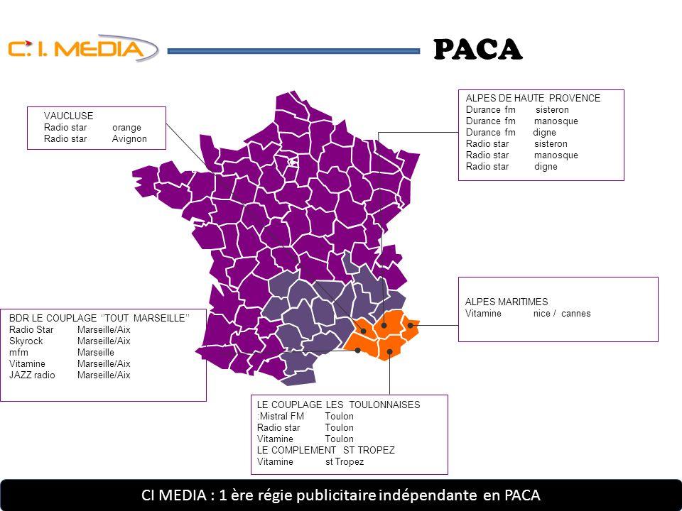 CI MEDIA : 1 ère régie publicitaire indépendante Marseille – Bouches du Rhône Notre Offre …