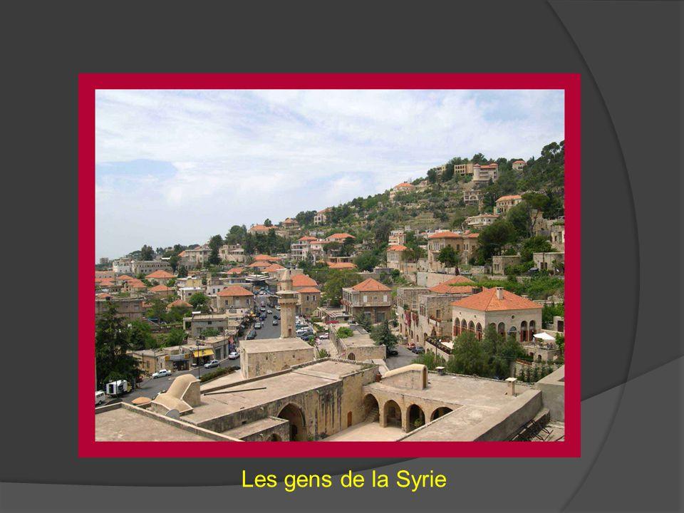 Les gens de la Syrie