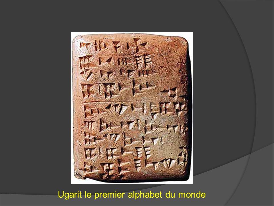 Ugarit le premier alphabet du monde