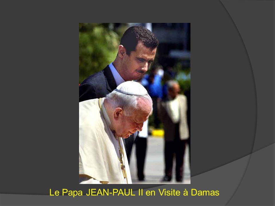 Le Papa JEAN-PAUL II en Visite à Damas
