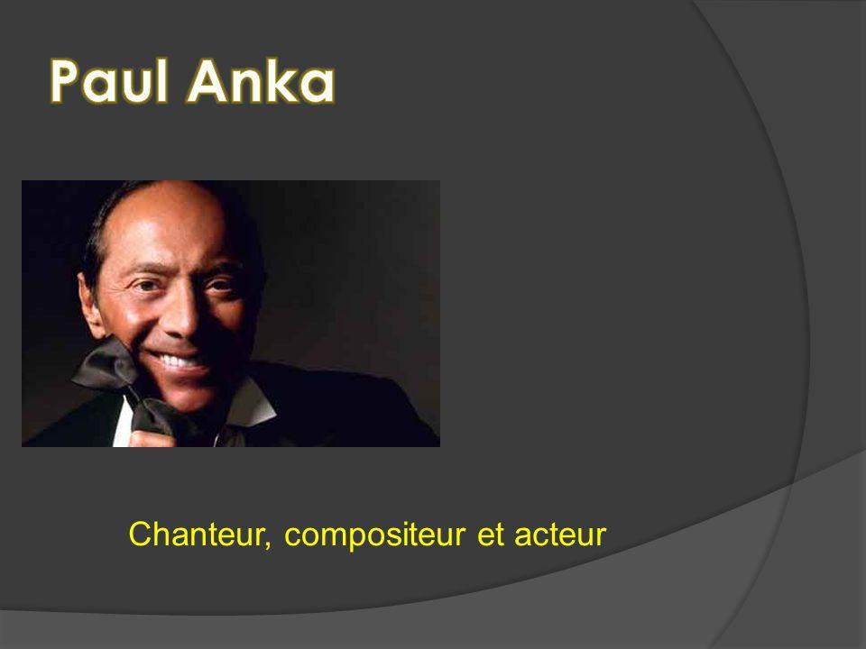 Chanteur, compositeur et acteur