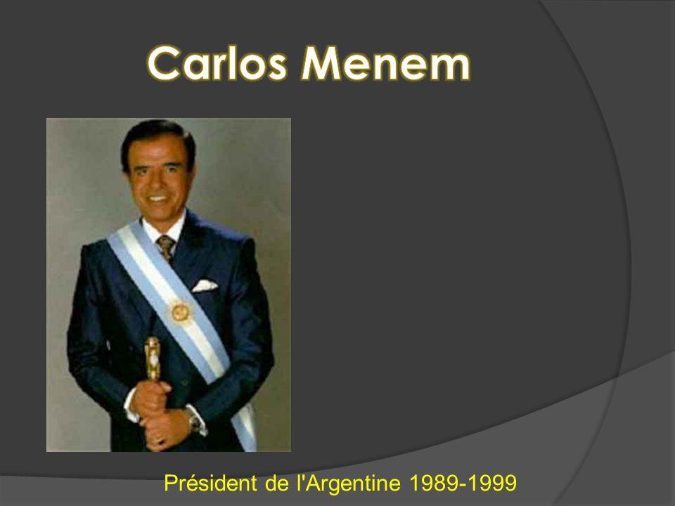 Président de l Argentine 1989-1999