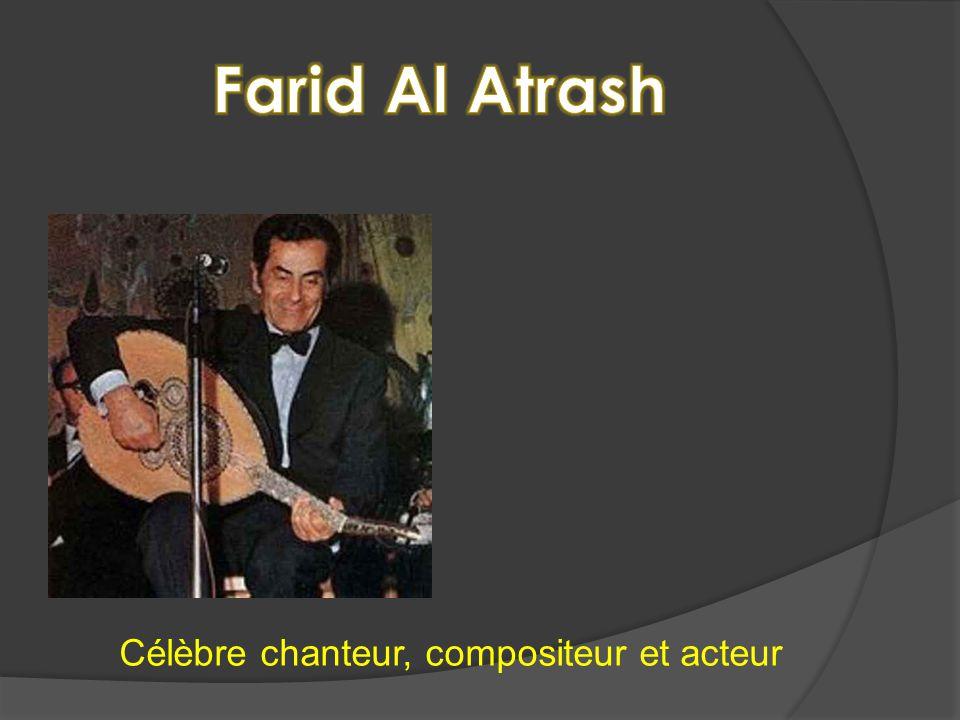 Célèbre chanteur, compositeur et acteur