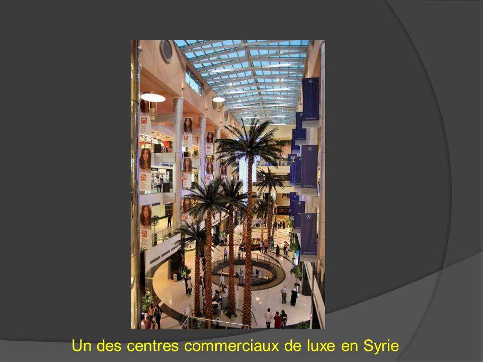Un des centres commerciaux de luxe en Syrie