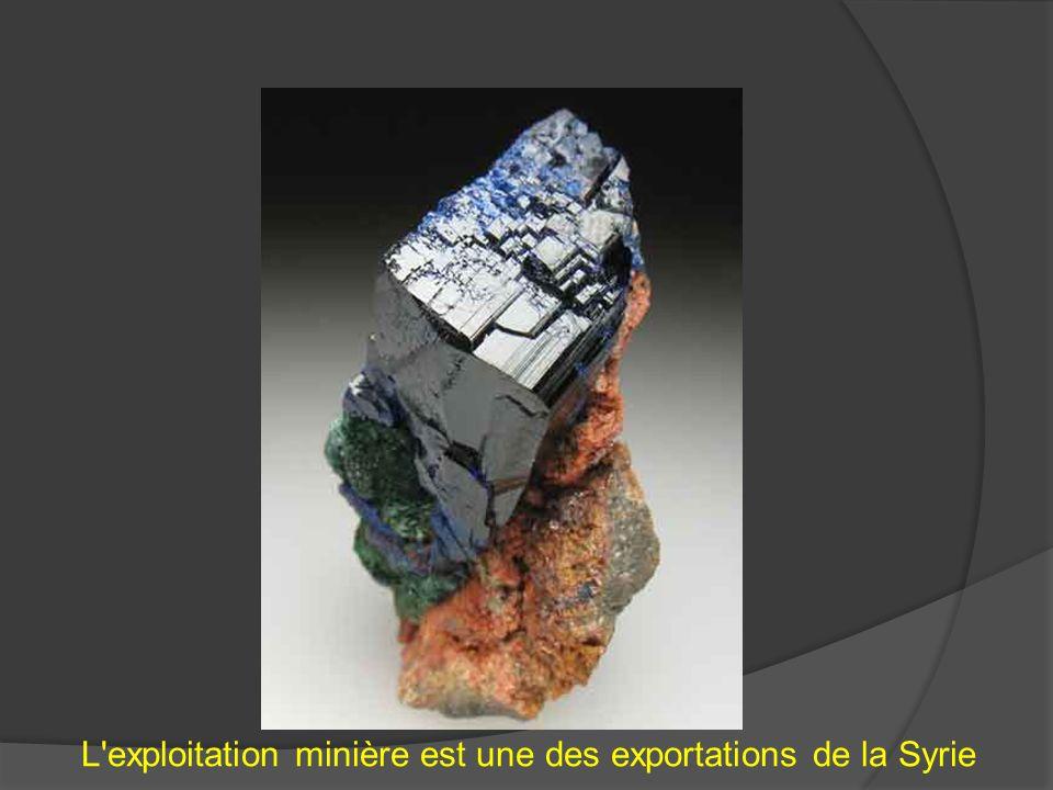 L'exploitation minière est une des exportations de la Syrie