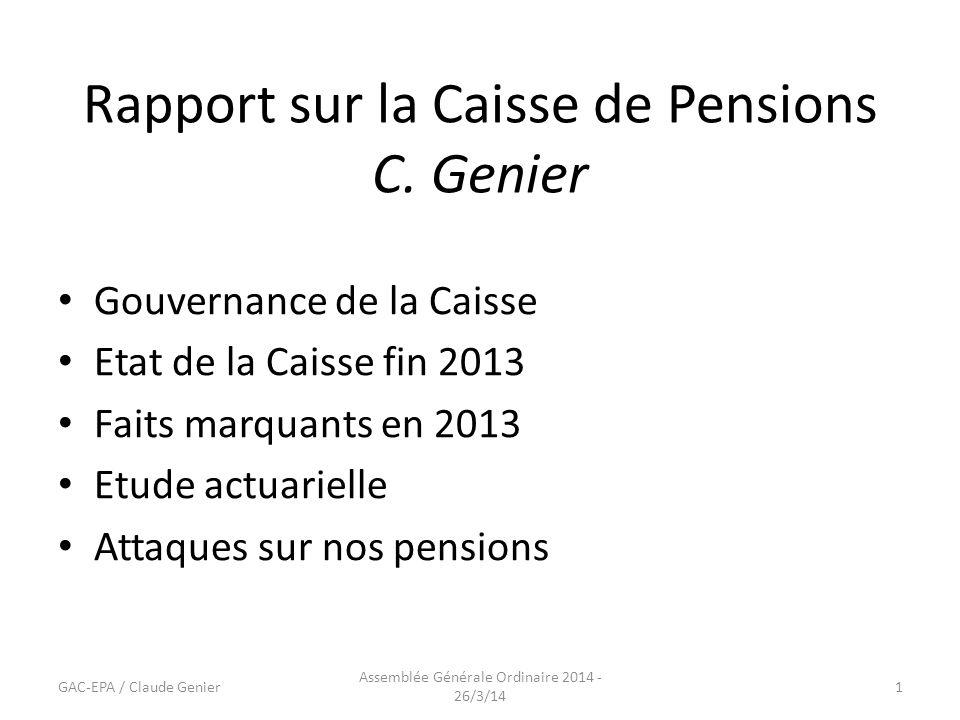 Rapport sur la Caisse de Pensions C.