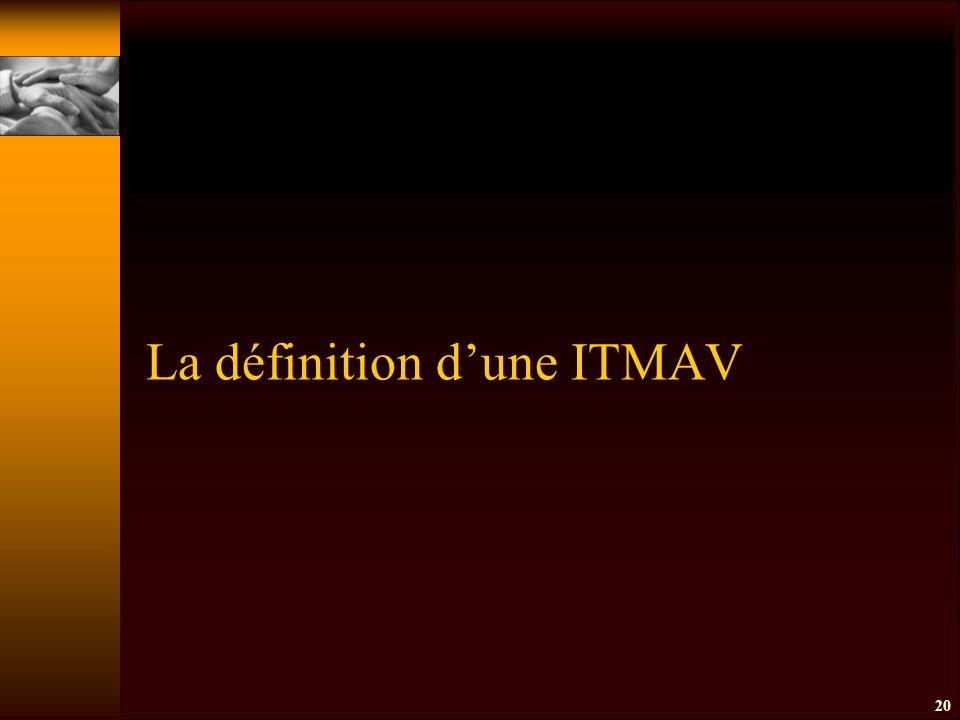 20 La définition d'une ITMAV