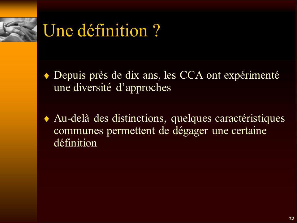 22 Une définition .