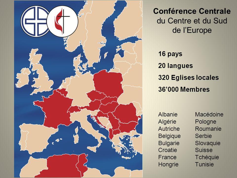 Conférence Centrale du Centre et du Sud de l'Europe Albanie Algérie Autriche Belgique Bulgarie Croatie France Hongrie Macédoine Pologne Roumanie Serbi