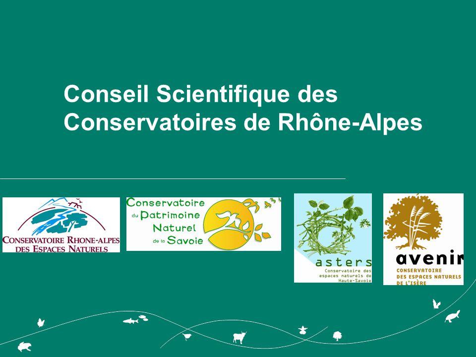 Conseil Scientifique des Conservatoires de Rhône-Alpes