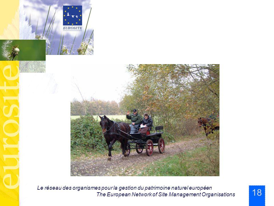 18 Le réseau des organismes pour la gestion du patrimoine naturel européen The European Network of Site Management Organisations