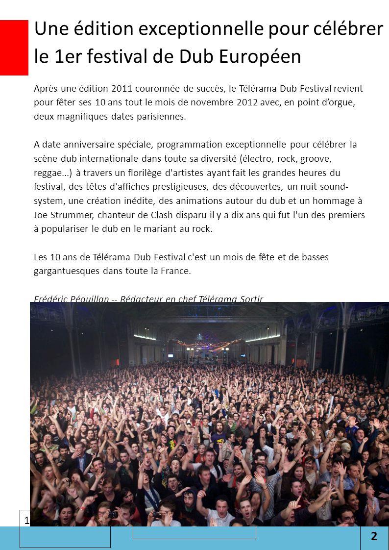 2 Cliquez pour modifier le style des sous-titres du masque 11/07/2012 Une édition exceptionnelle pour célébrer le 1er festival de Dub Européen Après u