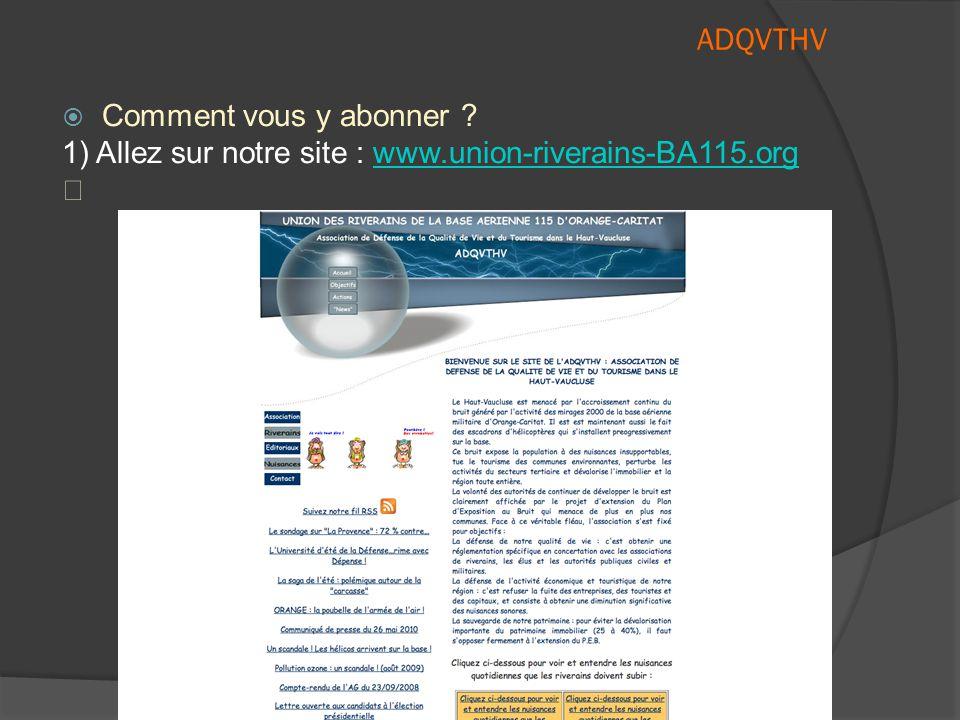 Association pour le Développement de la Qualité de Vie et du Tourisme dans le Haut-Vaucluse ADQVTHV  Ainsi, un webmaster peut décider, par un outil a