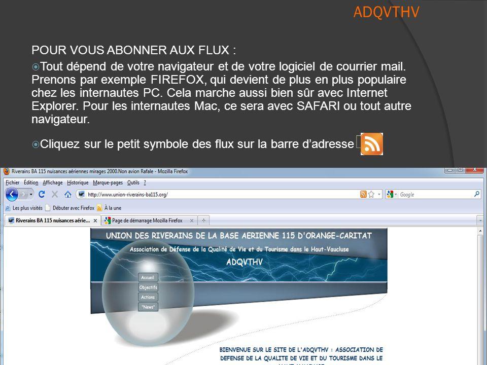 ADQVTHV  Comment vous y abonner .  4) Choisissons et cliquons par exemple sur « ACCES INTERDIT .