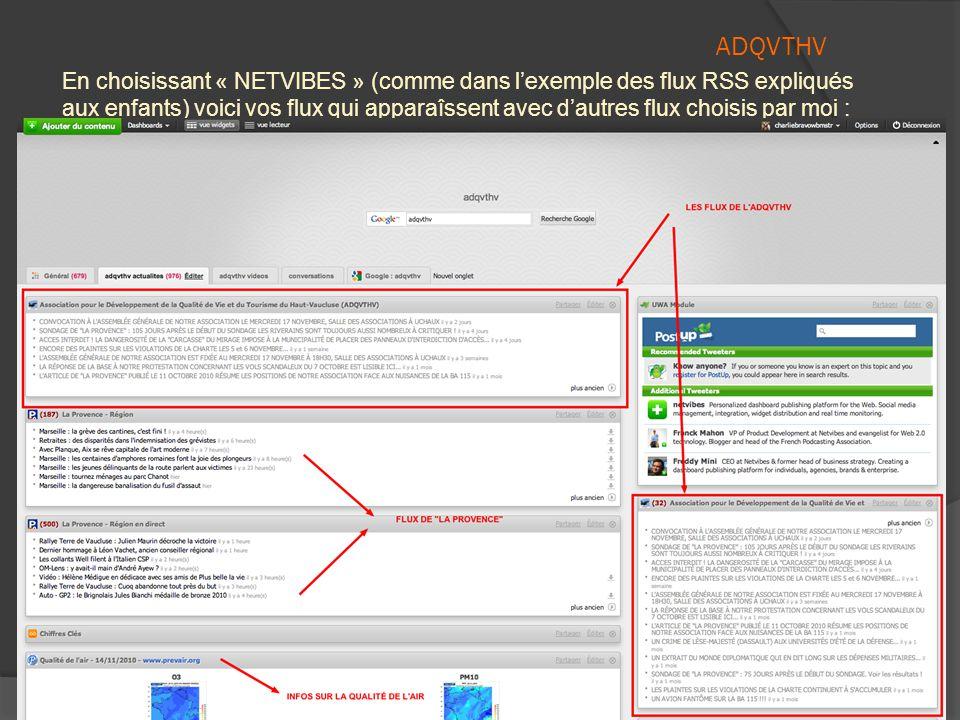 ADQVTHV  Choisissez alors selon vos préférences, l'une des options proposées.