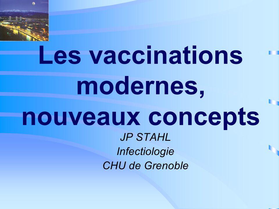 Les vaccinations modernes, nouveaux concepts JP STAHL Infectiologie CHU de Grenoble