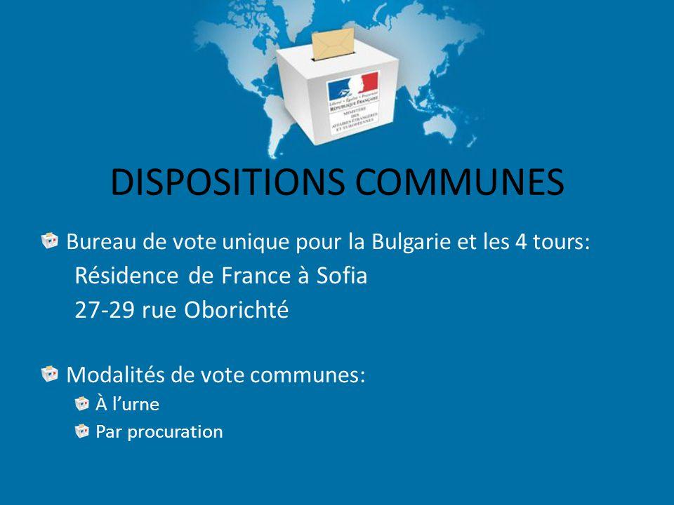 PROCURATIONS Être établie au profit d'un électeur sur le même bureau de vote que celui-ci soit en France ou en Bulgarie Fournir les informations minimum sur le mandataire (état-civil complet, date de naissance, adresse)