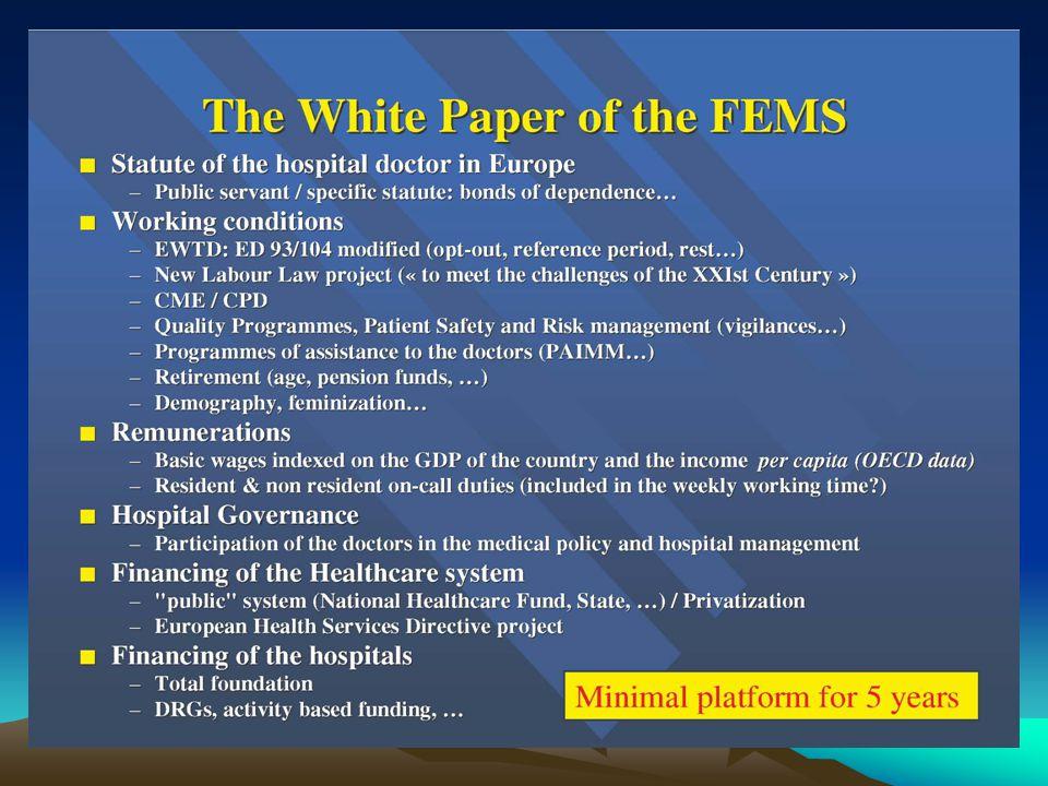MENACES SUR LA DE 2003-88 (2) La FEMS mène le combat Pdt Claude Wetzel Lobbying Eurogrève fin juin .