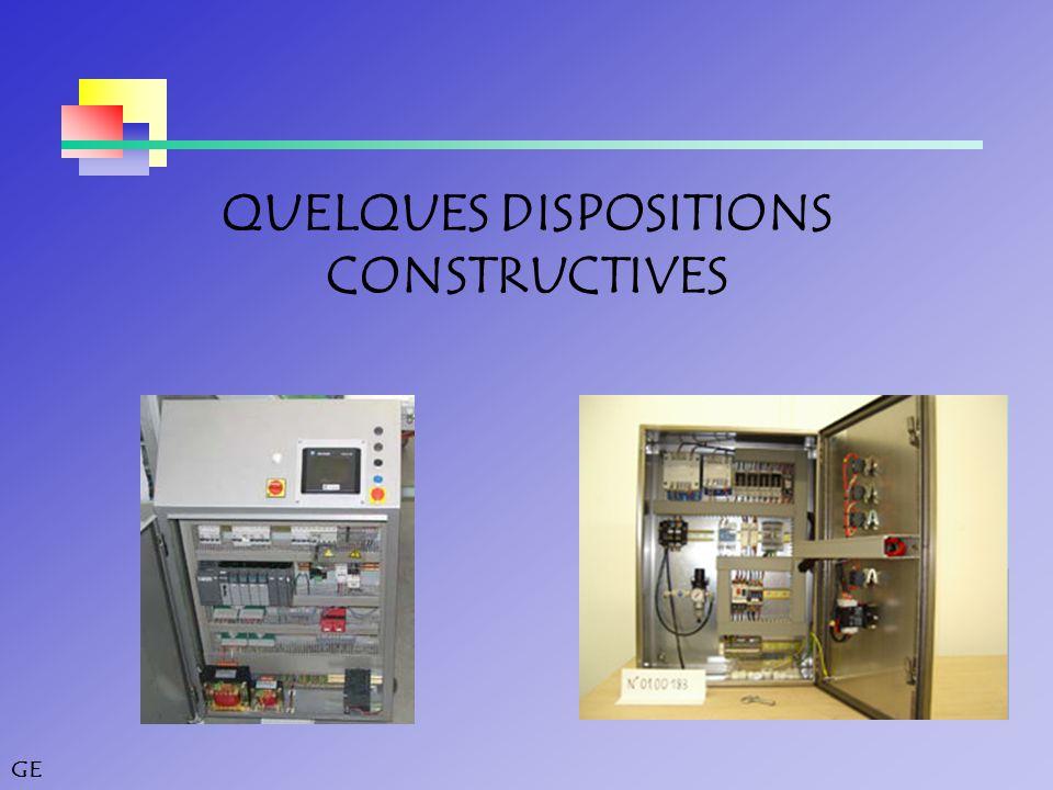 GE QUELQUES DISPOSITIONS CONSTRUCTIVES