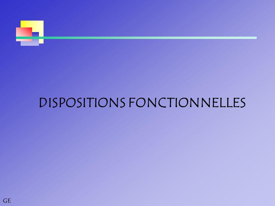 GE DISPOSITIONS FONCTIONNELLES