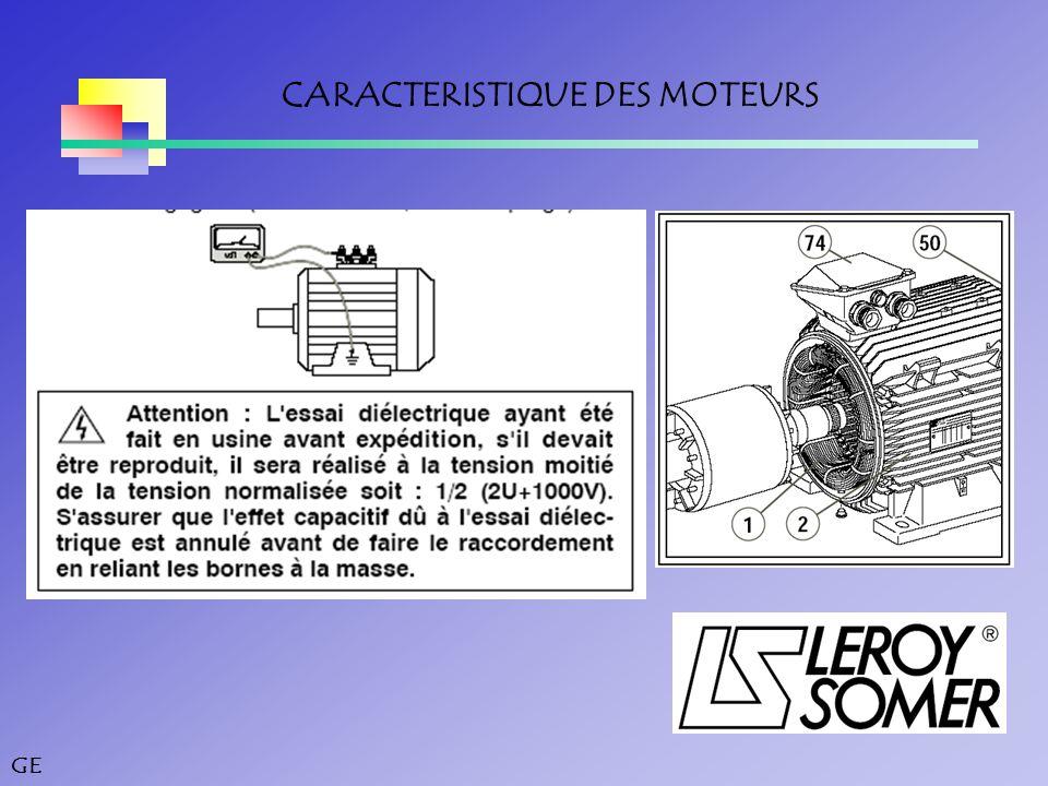 GE CARACTERISTIQUE DES MOTEURS