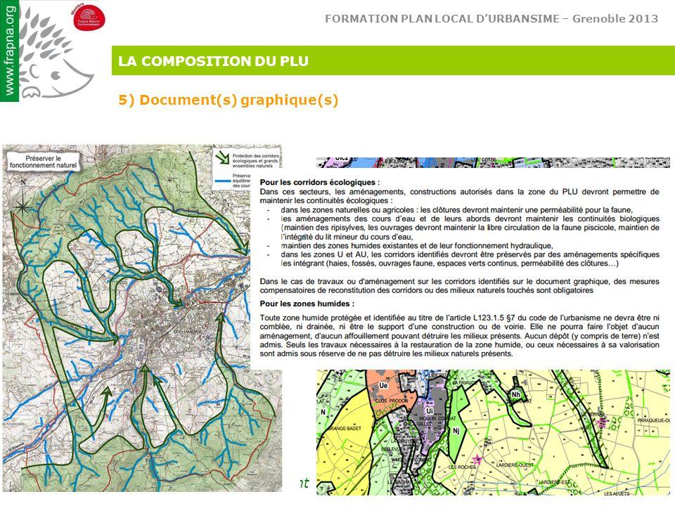 FORMATION PLAN LOCAL D'URBANSIME – Grenoble 2013 Réconcilions l'homme & son environnement LA COMPOSITION DU PLU 5) Document(s) graphique(s)